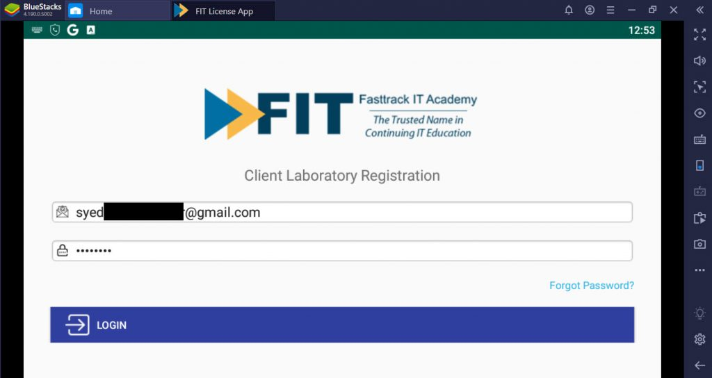 FIT License App for PC
