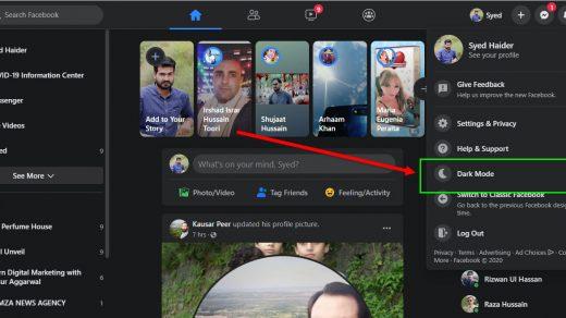 Facebook Dark Mode on PC